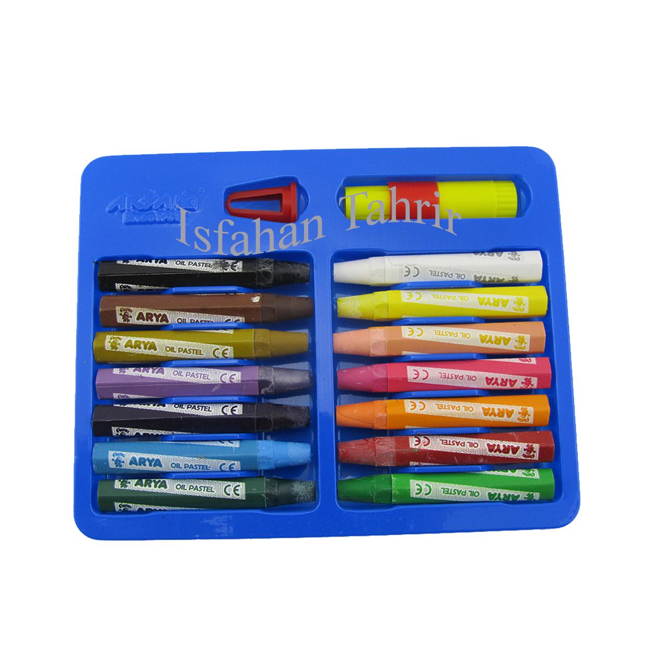 پاستل 12 رنگ آریا جعبه مقوایی ARYA