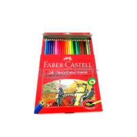مداد رنگی ۲۴ رنگ فابرکاستل مقوایی