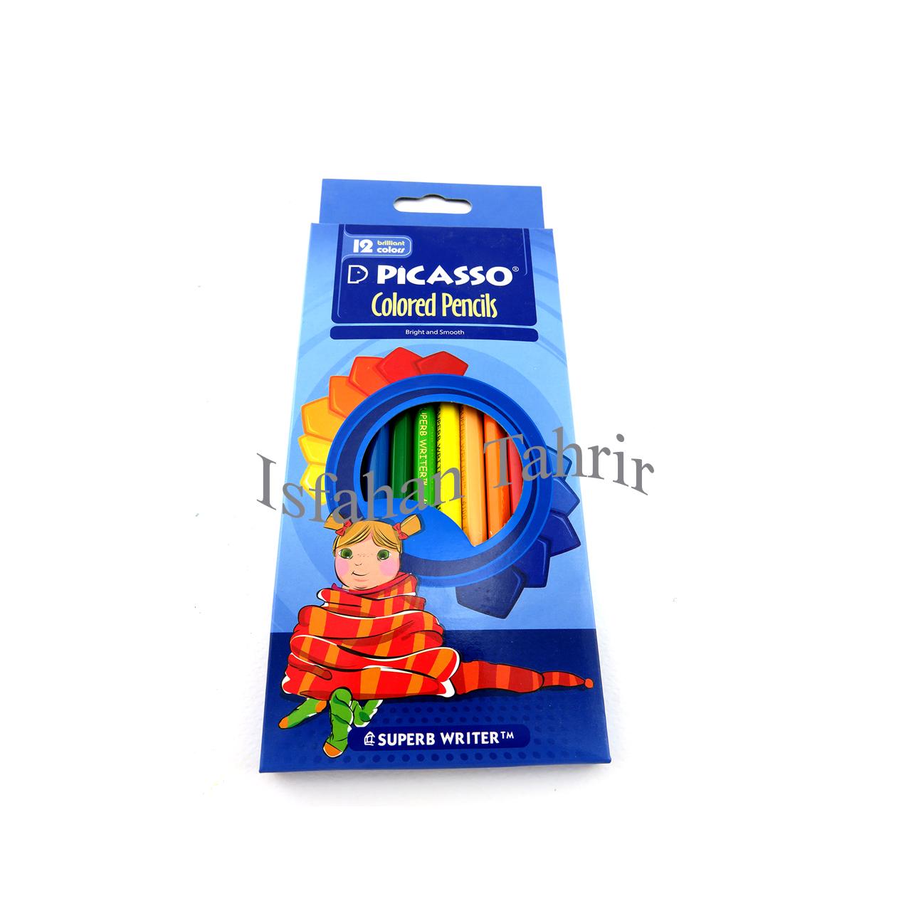 مداد رنگی ۱۲ رنگ پیکاسو مقوایی Picasso