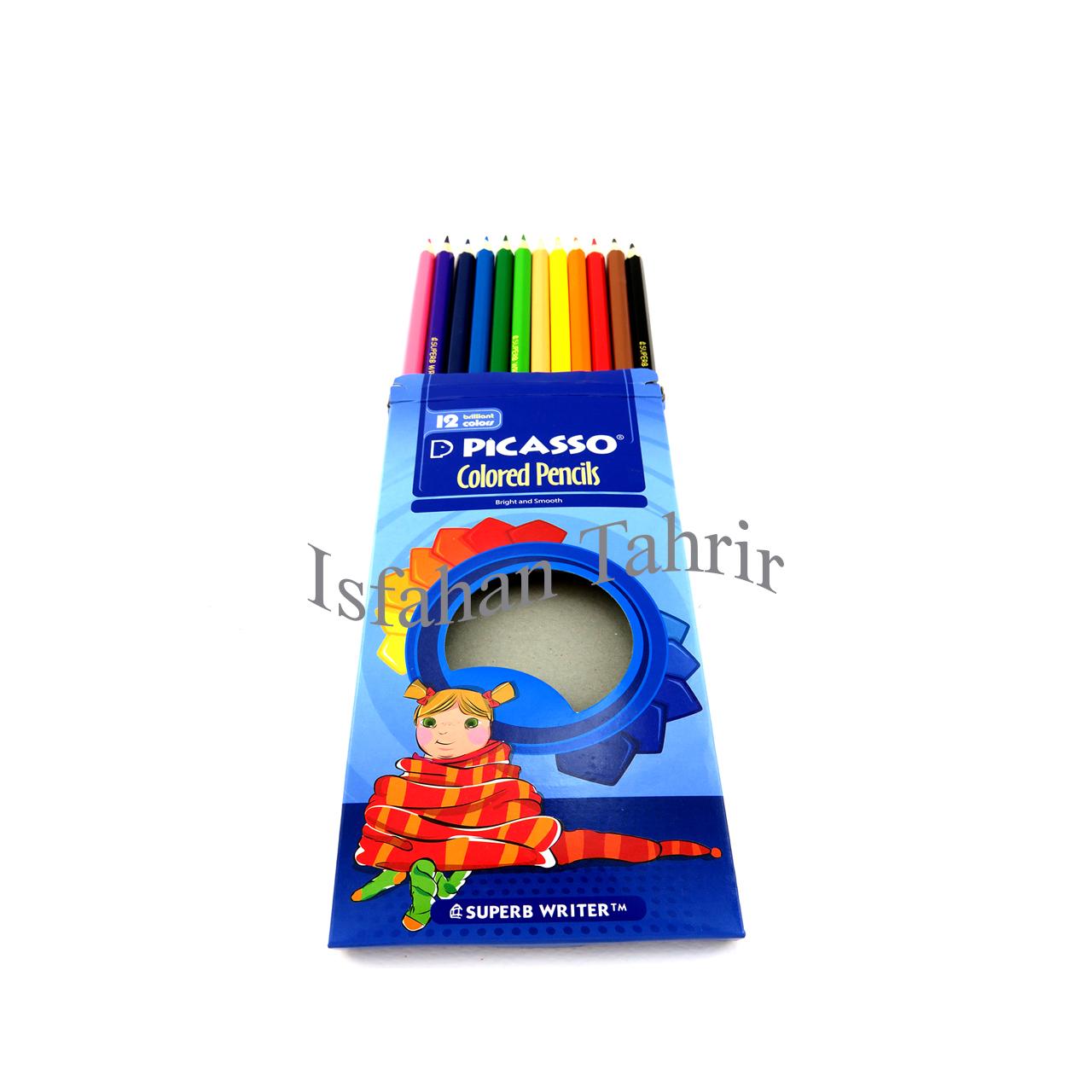 مداد رنگی ۱۲ رنگ پیکاسو فلزی (PICASSO)