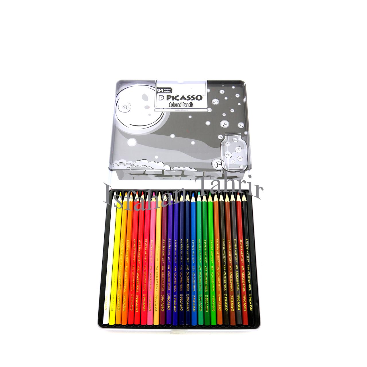 مداد رنگی ۲۴ رنگ پیکاسو فلزی Picasso