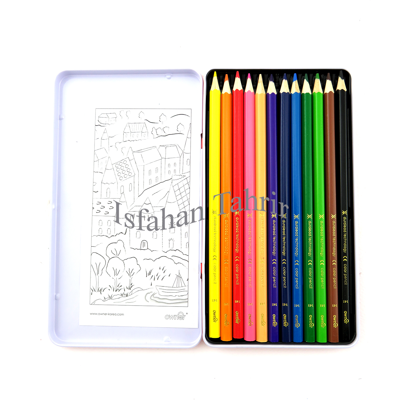 مداد رنگی ۱۲ رنگ فلزی اونر Owner