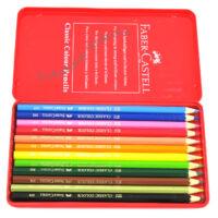 مداد رنگی ۱۲ رنگ فابر کاستل فلزی مدل FABER CASTELL