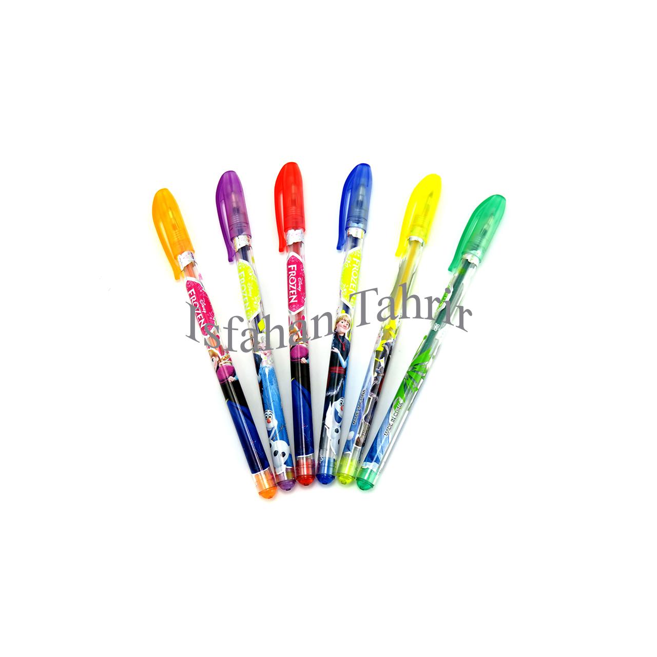 خودکار اکلیلی ۶ رنگ