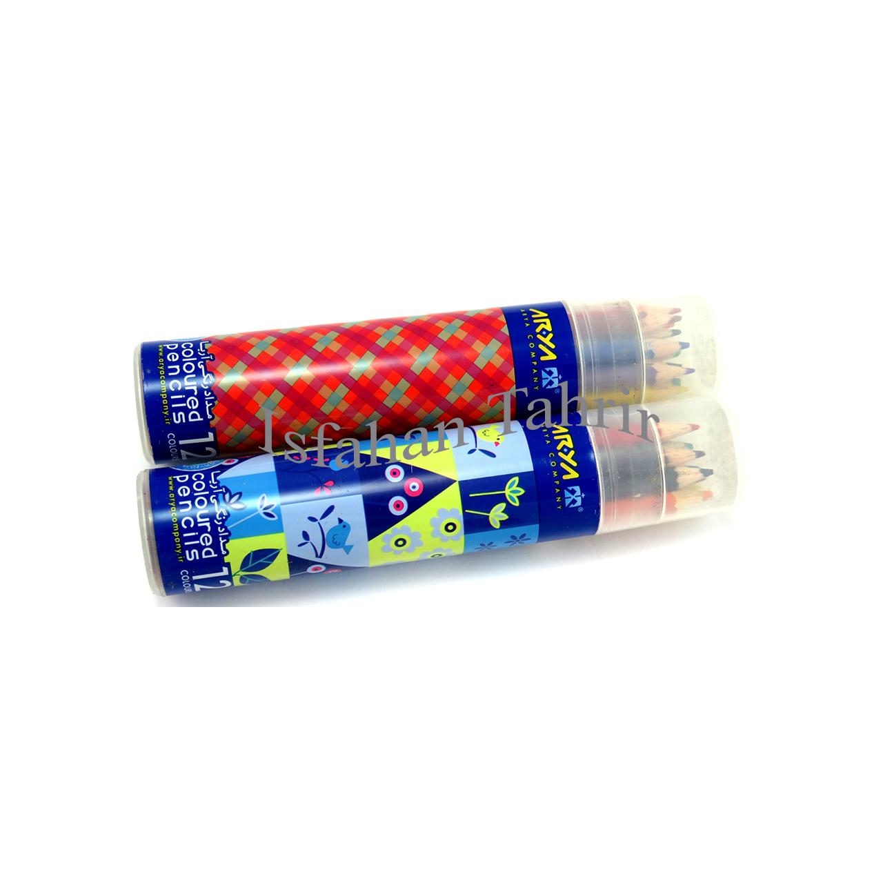 مداد رنگی ۱۲ رنگ آریا لوله ای (Arya)