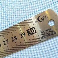 خط کش۳۰ سانتی متر فلزی