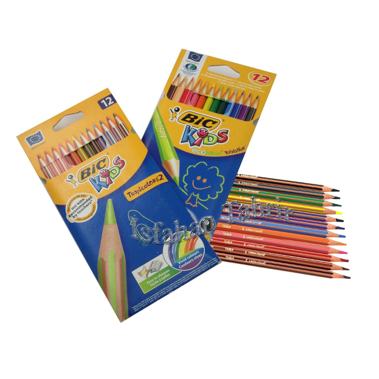 مداد رنگی 12 تایی بیک